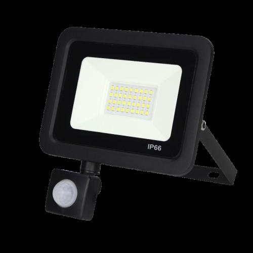 LED Floodlight -bouwlamp- met sensor 20w - 7006-sll-bouw-20watt-smd-sensor
