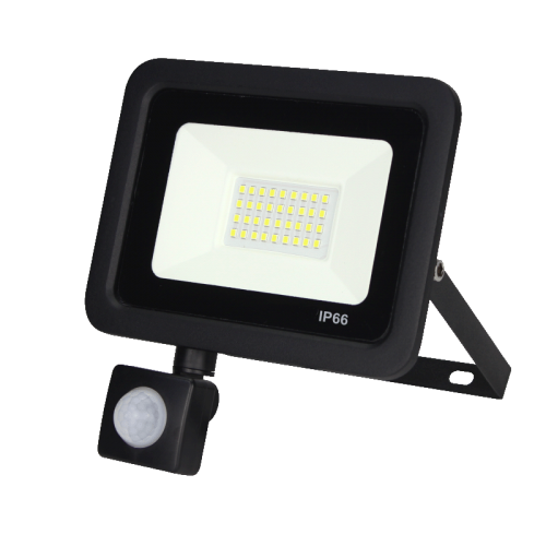 LED Floodlight -bouwlamp- met sensor 30w - 7007-sll-bouw-30watt smd sensor
