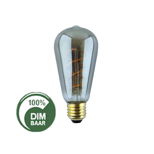 Led Lamp Filament 4W 2200K Edison Smoke - 6506-sll-fi-edison